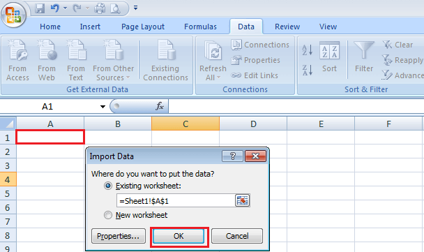 how to change data from notepad to excel