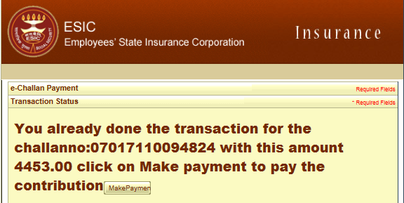 online esic payment
