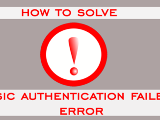 how to solve esic authentication failed error