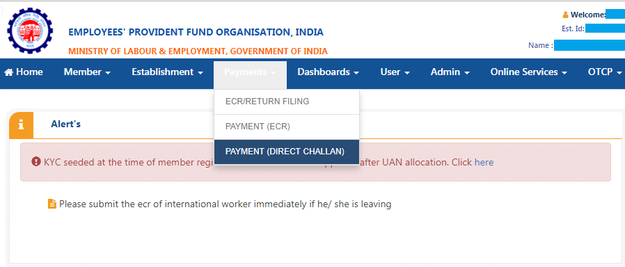 How to file EPF nil returns
