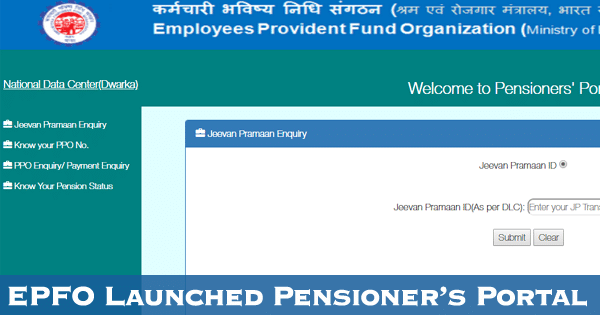 Web based Pensioners Portal Project