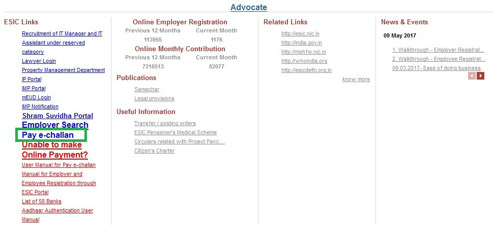 How to retrieve ESIC challan number