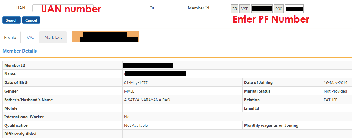 Individual Employee Exit Unified EPF Portal