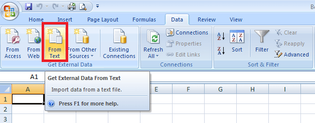 Convert Text File Excel