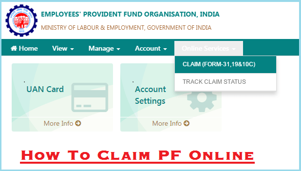 How To Claim Pf Online 2017 Online Pf Withdrawal Process In 2017