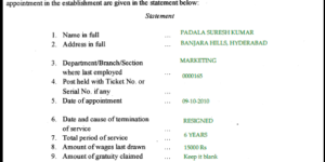 how to fill gratuity form I and gratuity form I sample