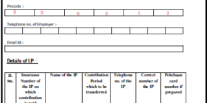 Sample Filled ESIC Contribution Transfer Form