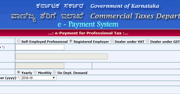 Due Date For Payment Of Professional Tax In Karnataka | Professional Tax In Karnataka