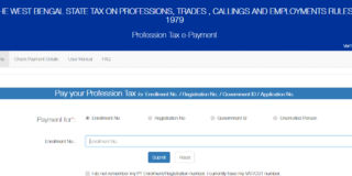 Professional tax in West Bengal 2018-19