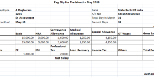 Salary Slip For 25000 Per Month In India