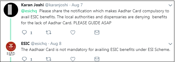 Is Aadhar Card Mandatory To Avail ESIC Benefits