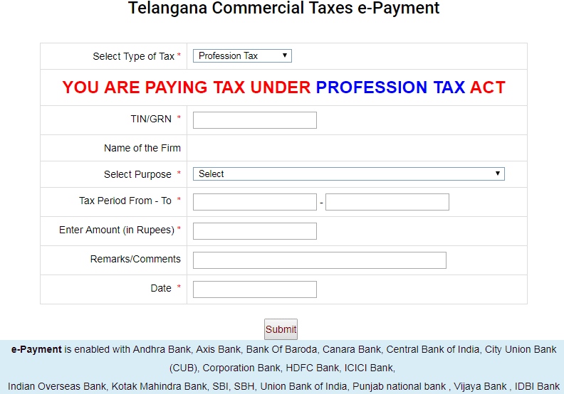 Professional Tax Slab In Telangana