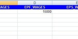 EPF ECR File Format in Excel Download