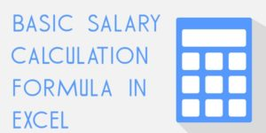 Basic salary calculation formula in Excel
