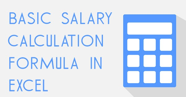 salary calculator in excel