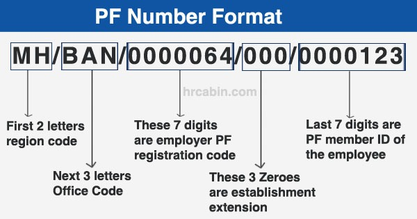 PF account number format details