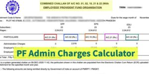 PF admin charges calculator