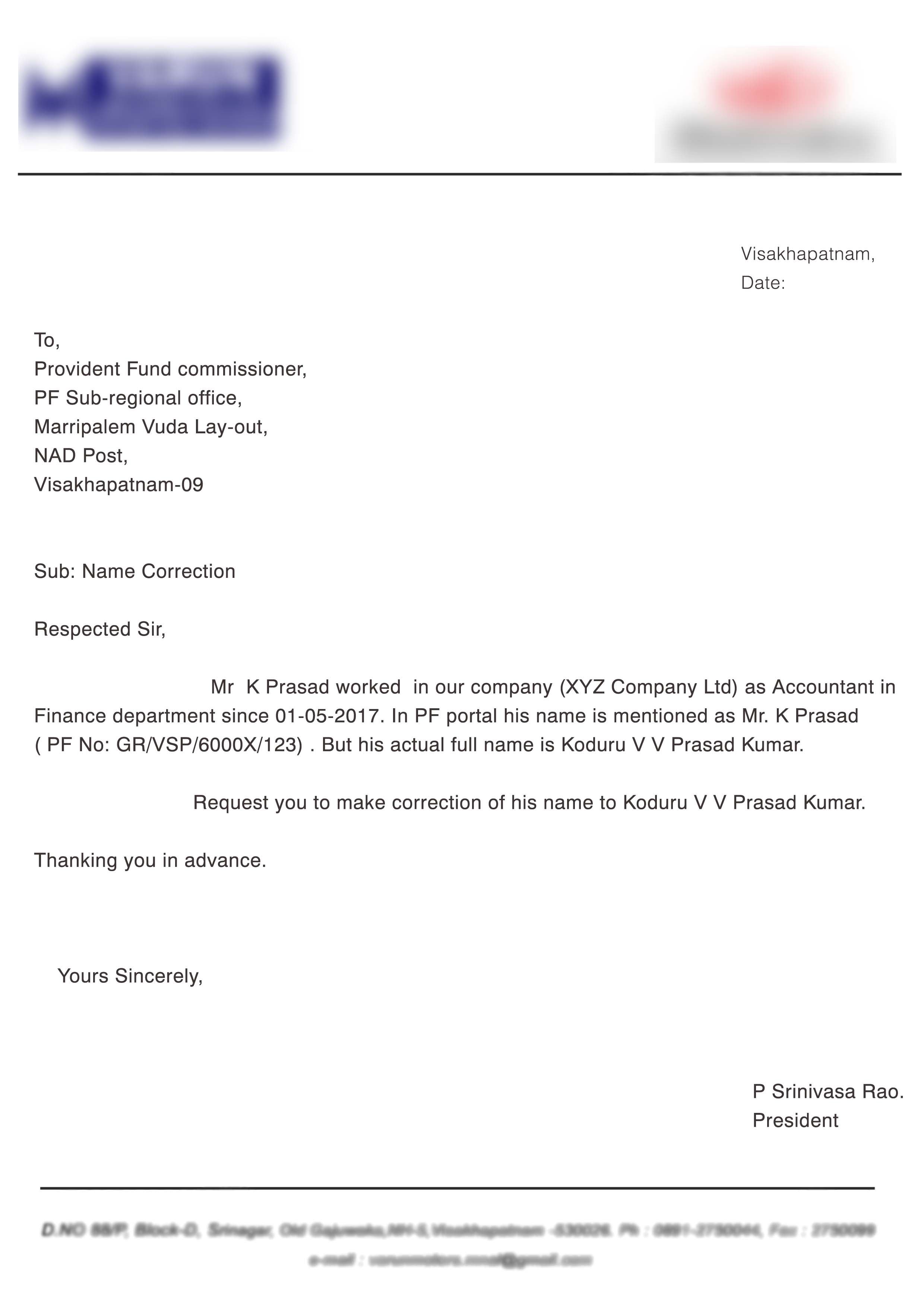 PF joint declaration form by member and employer