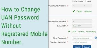 How to Change UAN Password Without Registered Mobile Number