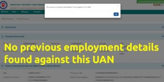 No previous employment details found against this UAN