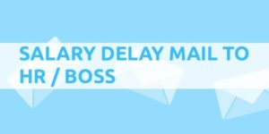 Salary Delay Mail to HR or Boss