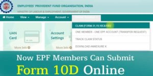 EPF form 10D online