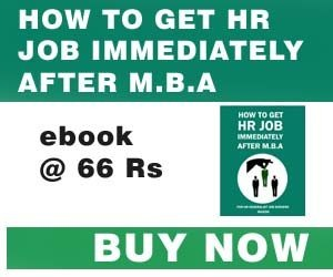 how to get hr job after mba