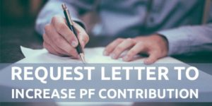 Request Letter to Increase PF Contribution