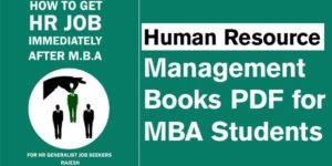 Human Resource Management Book PDF for MBA Students