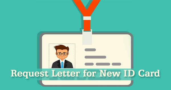Sample Request Letter For New Employee Id Card