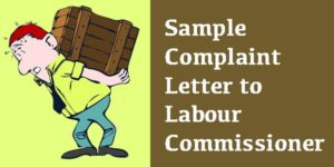 Sample Complaint Letter to Labour Commissioner