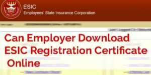 how to download esic registration certificate