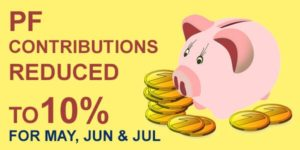PF contribution reduced to 10%