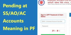 Pending at SS/AO/AC account in PF Claim