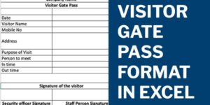 Visitor Gate Pass Format in Excel