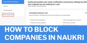 how to block particular companies in naukri portal