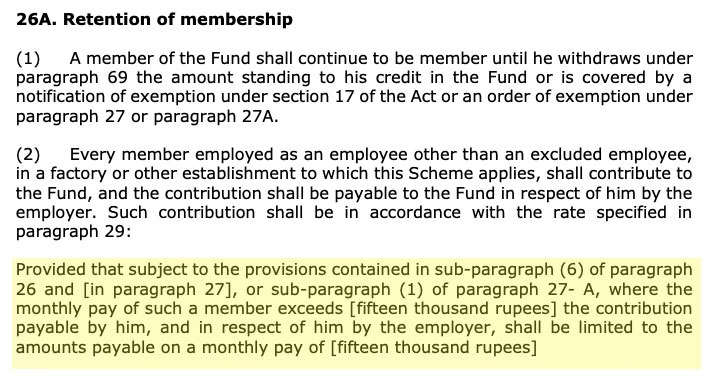 Is It Mandatory to Deduct PF from Salary More than 15000 notification