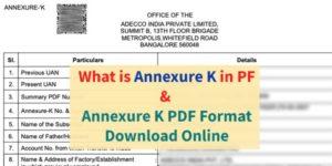 Annexure k in EPF