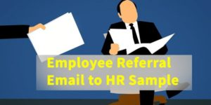 Employee Referral Email to HR Sample