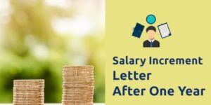 salary increment letter after one year
