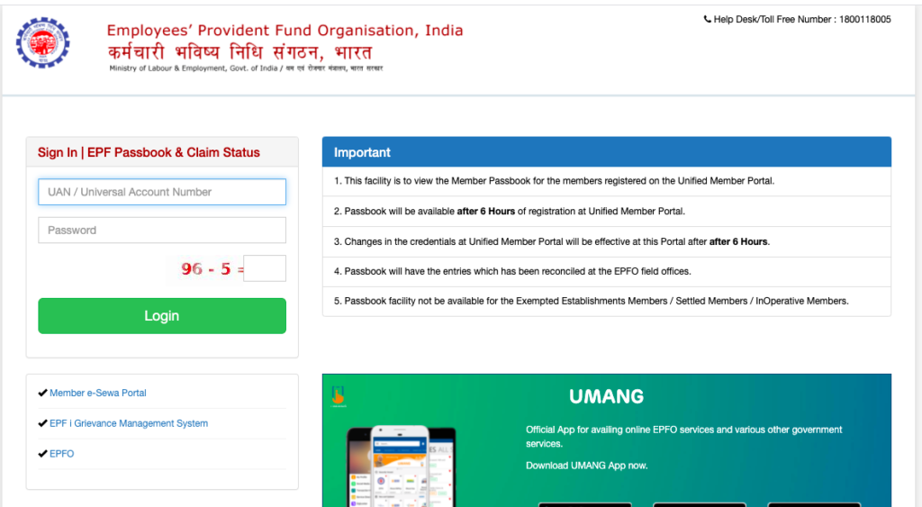 How to Check PF Balance without Registered Mobile Number
