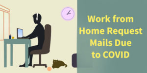 Work from Home Request Email Sample Due to Corona / COVID