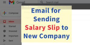 Email for Sending Salary Slip to New Company HR