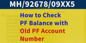 How to Check PF Balance with Old PF Number