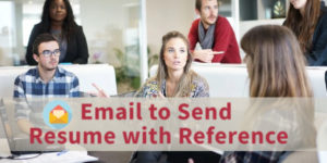 How to Send Resume with Reference in Mail
