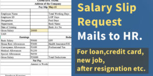 Salary Slip Request Mail to HR