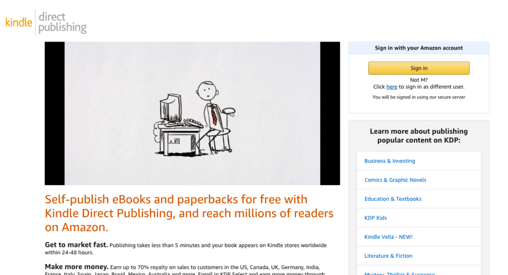 Ebook publishing to earn money online for students.