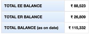 ee balance in pf