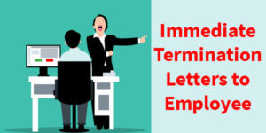 Sample Immediate Termination Letters to Employee in Word