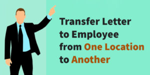 Transfer Letter to Employee from One Location to Another